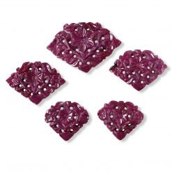 Fine Natural Ruby Carving 5 pcs Layout 47.50 Carats