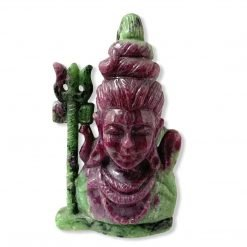 Natural Ruby Zoisite Carved Lord Shiva Statue