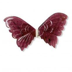 25.63 Rubellite Tourmaline carved Butterfly