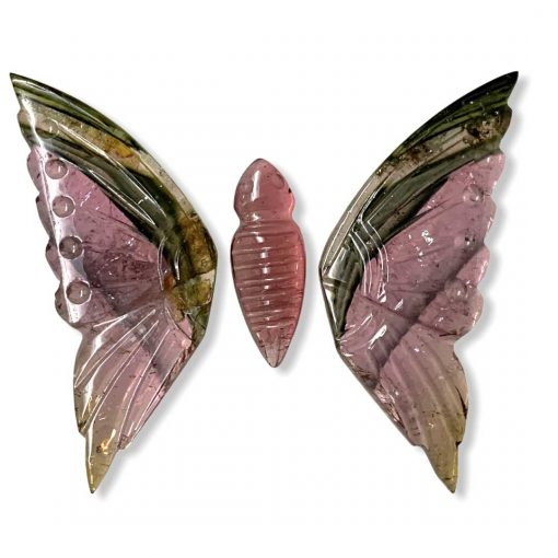 30.40 Carats Magnificent Natural Tourmaline Butterfly Carving