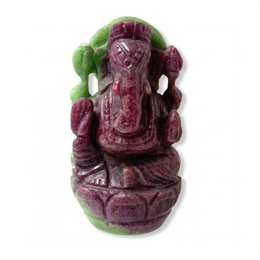 202.00 Carats Lord Ganesha Natural Ruby Carving