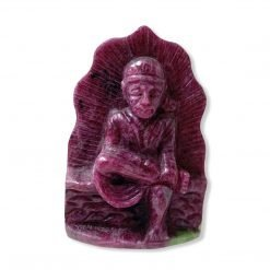 136.20 Carats Sai Baba Carved In Natural Ruby Zoisite