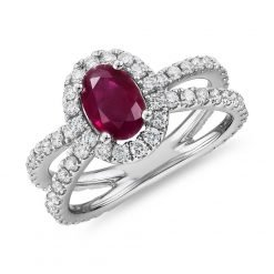 Beautiful Sterling Silver Ruby Ring