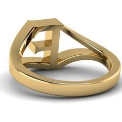 Jewelry Alphabet F Ring in 14k Gold