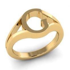 Jewelry Alphabet G Ring in 14k Gold