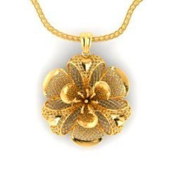 Big Sized Turkish Design 14k Solid Gold Pendant