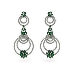 Chrome Diopside Earrings in Sterling Silver