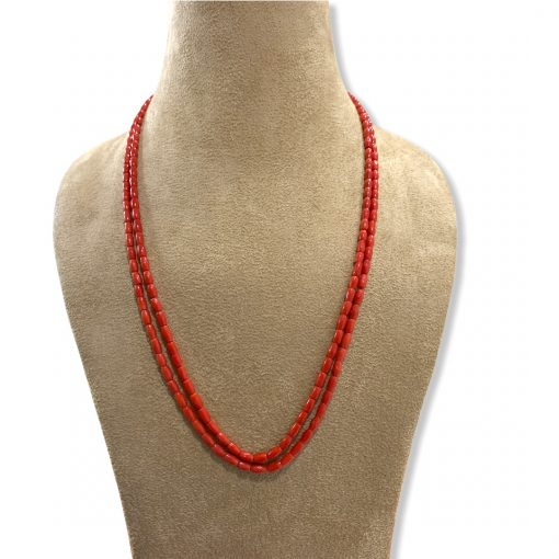 2 Strands Natural Coral Beads Necklace