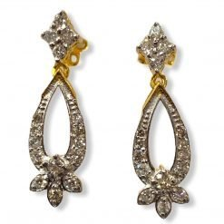 Fine Quality Diamond Earrings in 18k Solid Gold