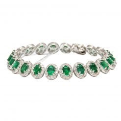 Premium Quality Sterling Silver Emerald Bracelet