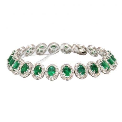 Premium Quality Sterling Silver Emerald Bracelet