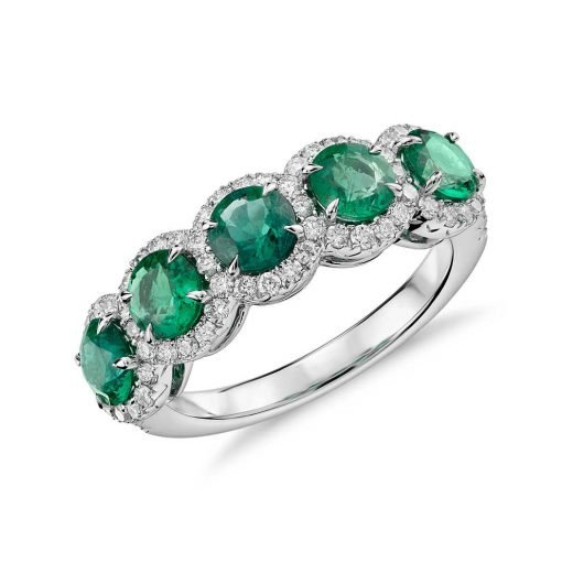 Nice Design Sterling Silver Emerald Ring