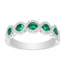 Fine Sterling Silver Emerald Ring