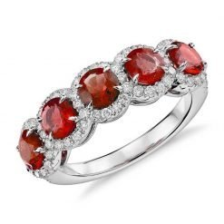 Sterling Silver Premium Ruby Ring