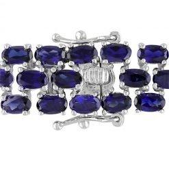 Sterling Silver Blue Sapphire Bracelet