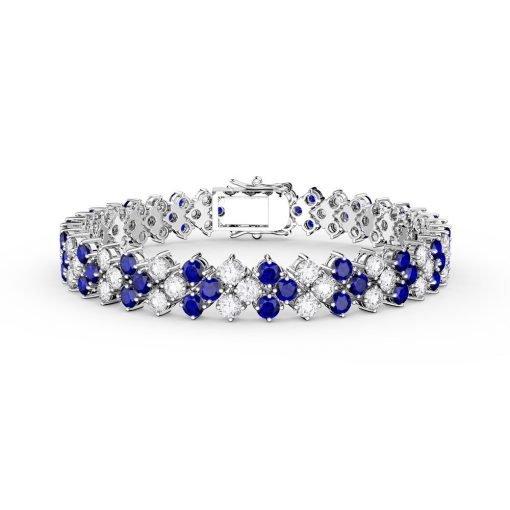 Fine Sterling Silver Sapphire Bracelet