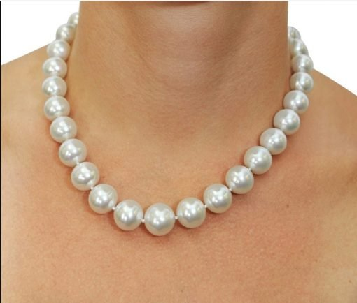 Certified 9mm White South Sea Pearl Necklace