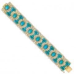 Fine Sterling Silver Turquoise Bracelet