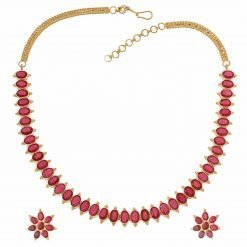 Fine Ruby Necklace with Matching Earrings