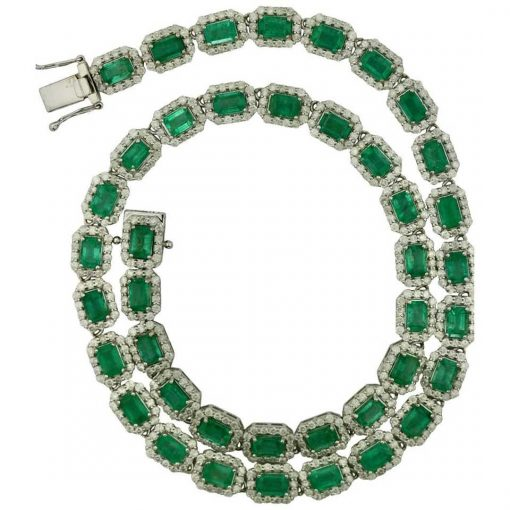 Premium 18 Inches Long Emerald Necklace