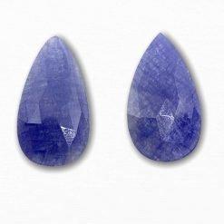 Natural Sapphire Checker Cut Pears
