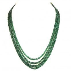 Natural Emerald Faceted Beads Necklace