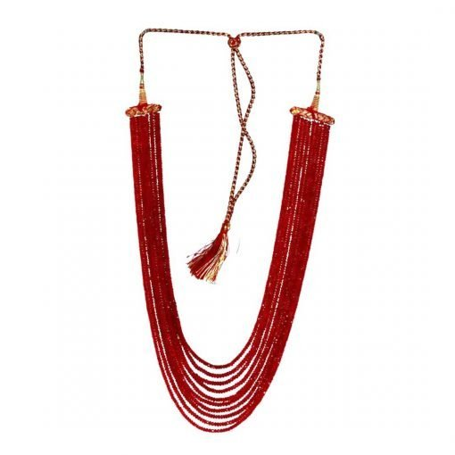 10 Strands 650 Carats Natural Ruby Beads Necklace