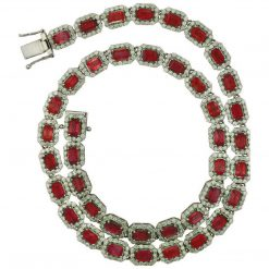 Premium 18 Inches Long Ruby Necklace
