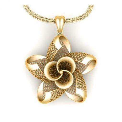14k Solid Gold Turkey Design Jewelry Pendant