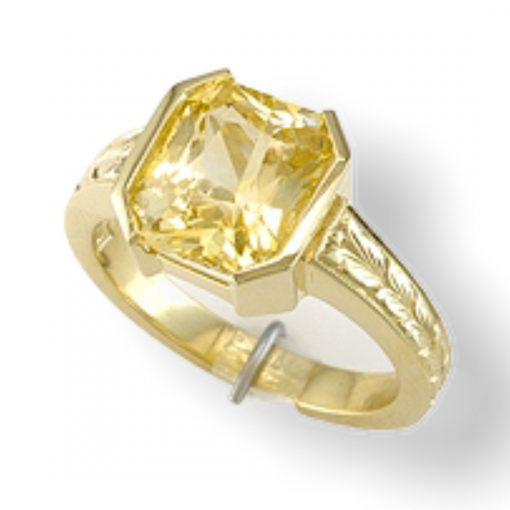 Premium Quality 6.02 Carats Natural Yellow Sapphire Ring