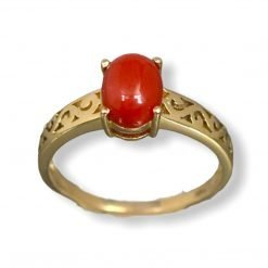 Premium Coral Ring Made with 18k Solid Gold