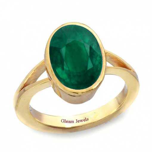 18k Solid Gold Natural Emerald Ring