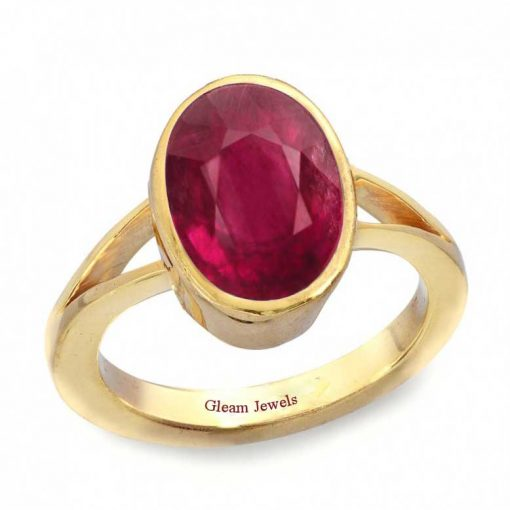18k Solid Gold Certified Natural Ruby Ring