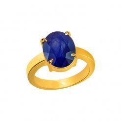 Five Metal Blue Sapphire Ring for Astrology Purpose