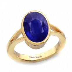 18k Solid Gold Natural Blue Sapphire Ring