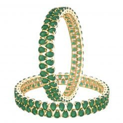 Fine Quality Sterling Silver Emerald Bangles