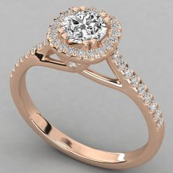 0.70 Carats Gia Certified Solitaire Diamond Ring