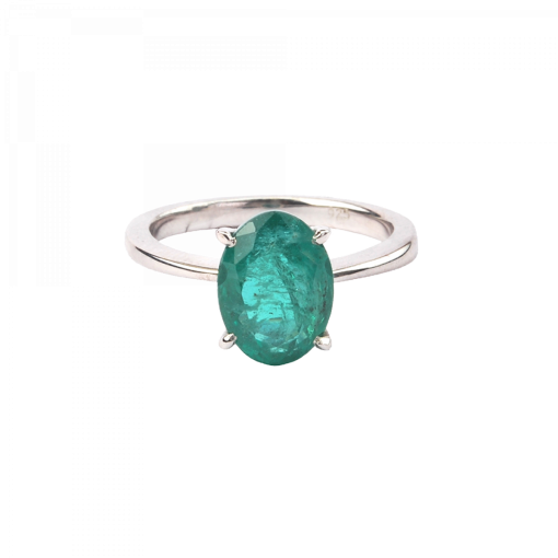 Magnificent Emerald Ring Made with 18k Gold