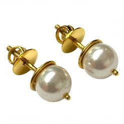 6mm South Sea Pearl Studs Earrings Made in 18k Gold