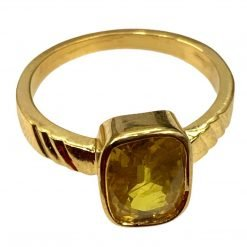 Natural Yellow Sapphire Ring in 18k Gold