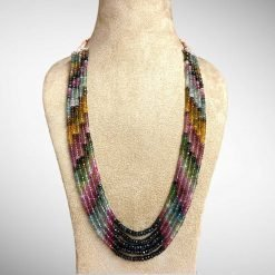 310.00 Carats Natural Tourmaline Beads Necklace