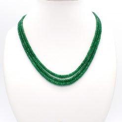Three Strands Graduated Emerald Necklace