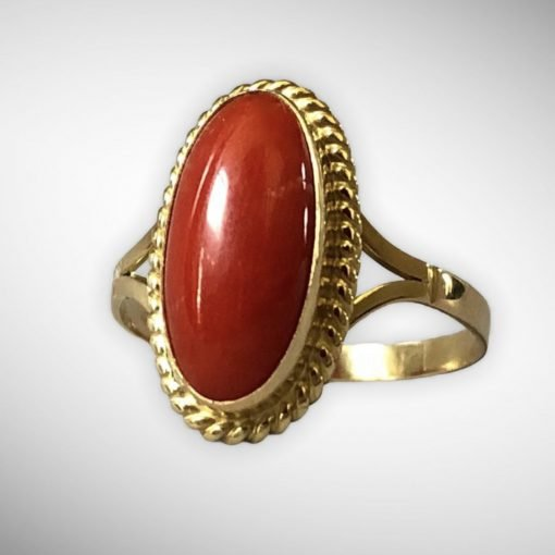 Fine Quality 6 Carats Natural Coral Ring for Women