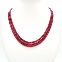 Three Strands Graduated Ruby Necklace