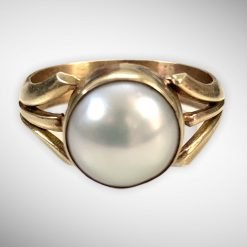 South Sea Pearl Ring in 18k Solid Gold