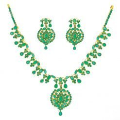 Premium Quality Sterling Silver Emerald Necklace