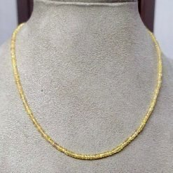 Natural Sapphire 3mm Roundel beads Vintage Handmade Necklace