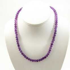 4.00 mm Round Amethyst Beads Necklace