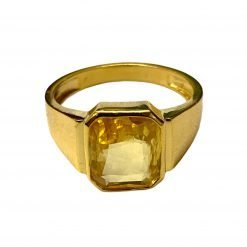 Premium Quality Ceylon Yellow Sapphire Ring in 22k Solid Gold