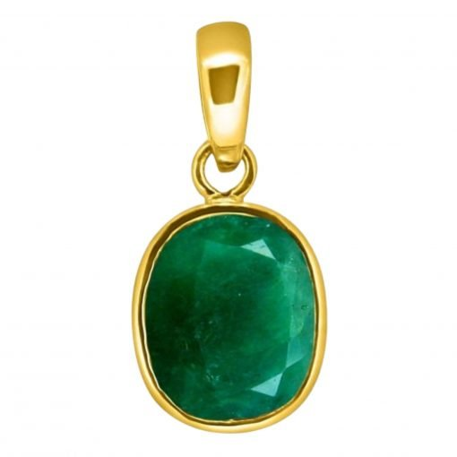 4.95 Carats Certified Emerald Locket in 14k Solid Gold